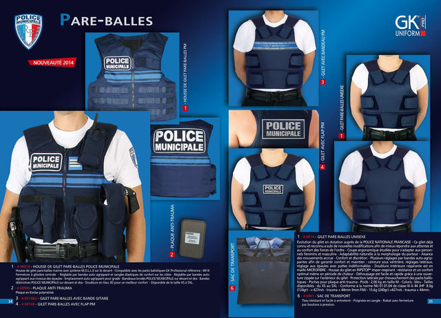 Gk professional gk pro uniform division police municipale for Housse gilet pare balle gk