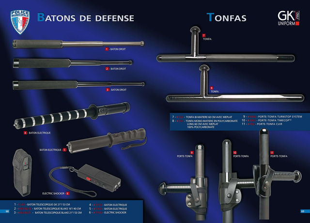 BATONS DE DEFENSE - TONFAS