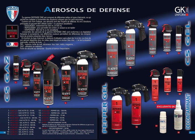 AEROSOLS DE DEFENSE